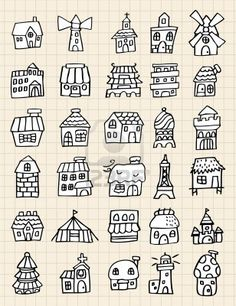 draw cute house