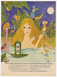 Herbal Essence Shampoo - the whole 1970's artwork on the label, brings back memories of my parent's house...