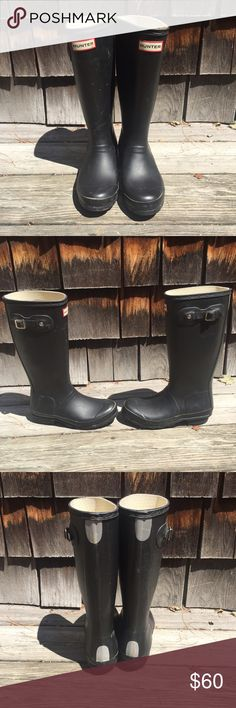 Youth hunter boots Slightly worn black hunter boots.  Girls size 5 Hunter Boots Shoes Rain & Snow Boots