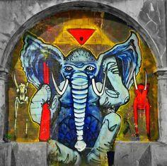 in Pontevedra, Spain (LP)   Street Art   Street Artists   Art   Urban Art   Modern Art   Urban Artists   Mural   Graffiti   travel   Schomp MINI