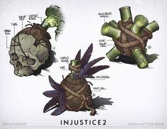 Injustice 2: Scarecrow/Swamp Thing/Various, Becca Hallstedt on ArtStation at https://www.artstation.com/artwork/8DqmR