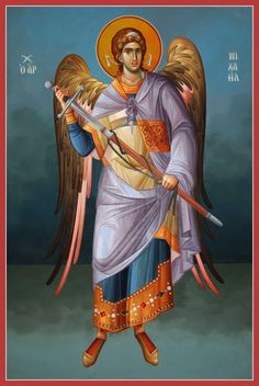 Archangel Michael - Archangel Michael stands first and foremost for protection… Religious Images, Religious Icons, Religious Art, Byzantine Icons, Byzantine Art, Angel Protector, Angel Warrior, I Believe In Angels, Angel Pictures