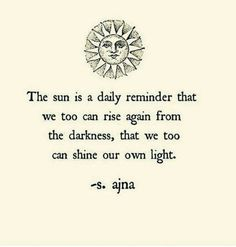 The sun is a daily reminder