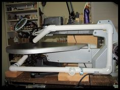 DIY Scroll Saw Dust System.