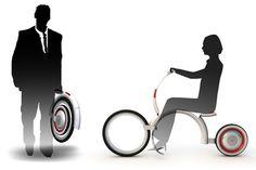 Snail Motorcycle Foldable Electric Motorcycle by Cao Weizhi, Zhao Yan & Wang Shujing » Yanko Design