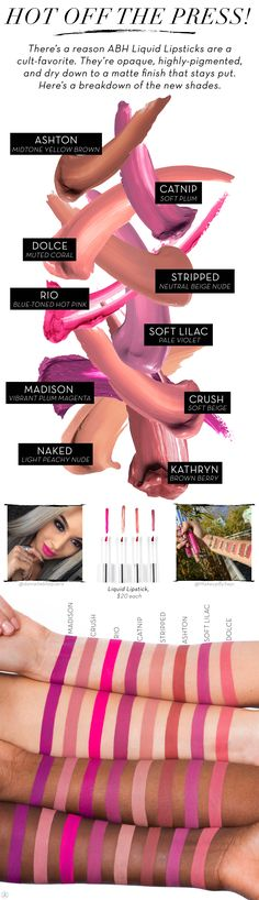 Beyond the Brow | Official Blog of Anastasia Beverly Hills - Spring Liquid Lipsticks Are Here!