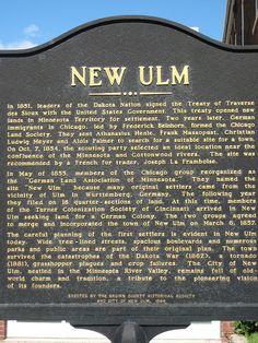 New Ulm Marker
