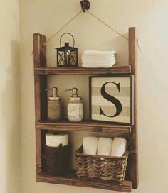Rustic bathroom shelves, bathroom storage shelves, rustic bathroom decor, r Decor, Shelves, Bathroom Shelves, Rustic Furniture, Rustic Bathroom Shelves, Country Farmhouse Decor, Farmhouse Bathroom Accessories, Home Decor, Rustic House