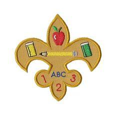 School Fleur De Lis Applique - 4 Sizes! | back-to-school | Machine Embroidery Designs | SWAKembroidery.com Applique for Kids
