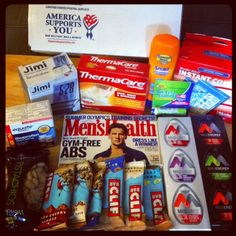 work out care package for deployed soldiers