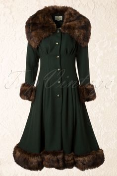 Collectif Clothing Pearl Coat Green 14396 20140616 0005Model