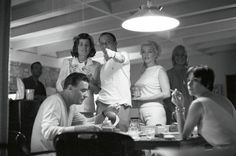 Frank Sinatra Archive - Frank, Marilyn Monroe and Peter Lawford (among others) photographed by Bernie Abramson in 1961