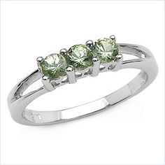 green sapphire setting