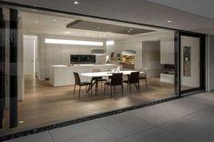 New entry: Modena wood dining table in gray wash - table # . Modern Kitchen Design, Modern House Design, Casa Loft, Interior Architecture, Interior Design, Minimalist Kitchen, Cuisines Design, Küchen Design, Kitchen Interior