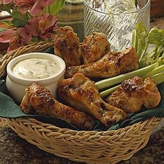 Ranch Buffalo Chicken Wings. Didn't even know about this website, but it's such an obvious one to search for.
