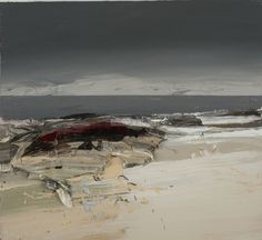 Chris Bushe RSW Night Passage oil on board 22 x 20 ins x 51 cms) Seascape Paintings, Nature Paintings, Landscape Paintings, Coastal Paint, Sleeping Drawing, Sense Of Place, Beach Art, Contemporary Paintings, Abstract Landscape