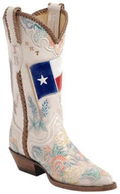 ummmm dear corral please make these ladies boots in something bigger than medium width....sincerely your wide footed lady friend :)  these would be really cute w/my wedding dress