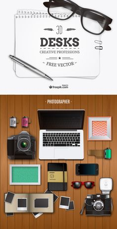 Freebie: Realistic Vector Pack of Desktop Elements. #FreePik
