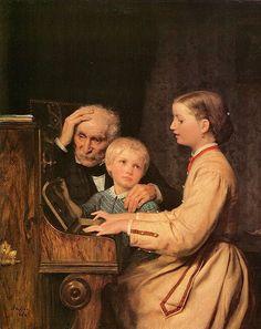 Die Verbannten (The Song) -- Albert Samuel Anker (1831 – 1910, Swiss)