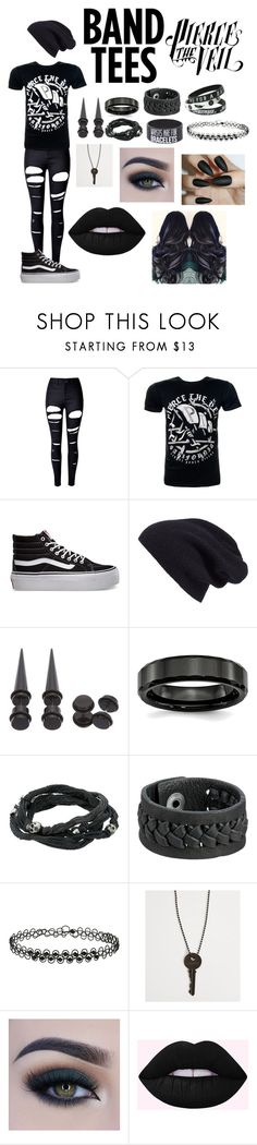 """Band Tee! It's my specialty!"" by glazeddonut ❤ liked on Polyvore featuring WithChic, Vans, Halogen, Hot Topic, King Baby Studio, Frye, Miss Selfridge, The Giving Keys and Too Faced Cosmetics"