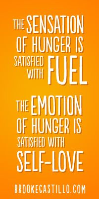Is your body physically hungry? EAT! Emotionally hungry? LOVE YOURSELF! xoxoxxo