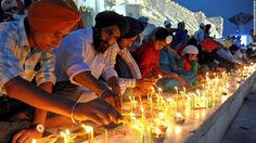 Indian Sikhs celebrate Diwali to mark the return of the sixth Guru, Hargobind…