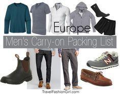 TFG Men's Packing List for Europe