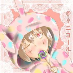 Anime cute girl /かわいいうさぎの女の子