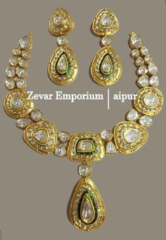 Real Gold Kundan Meena Diamond Polki Jewellery, Jadau Polki Necklace Sets, Diamond Polki Jewellery, Indian Polki Set, Victorian Jewellery, RANI-HAR, Hallmarkd, Hallmark, Pendants Sat Earring Ring #GoldJewelleryIndian #RealGoldJewellery #GoldJewelleryKundan