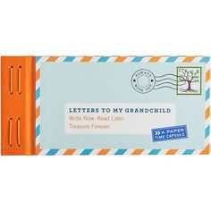 Twelve prompted letters offer an immediate way for grandparents to give the gift of a lifetime to their grandchild of any age. When favorite memories and words of wisdom are sealed with the included s