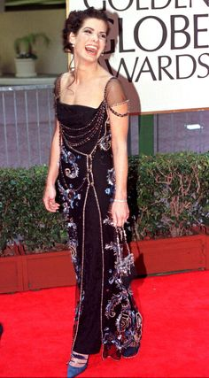 Sandra Bullock — 1998   This Is What The Golden Globes Looked Like In The '90s