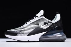 Men s NIKEiD Air Max 270 Black Grey White AO1023-993 To Buy 6308865a6