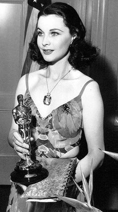 Vivien Leigh winning Best Actress for Gone with the Wind in 1939.