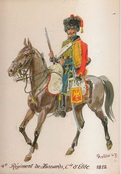 Ussaro della compagnia di élite del 4 rgt. Ussari, 1812