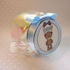 Mini Baleiro ursinho azul marrom - R$8,5