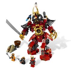 (26.98$)  Watch now - http://aiprp.worlditems.win/all/product.php?id=32640029975 - Toys for children CHINA BRAND 9775 self-locking bricks Compatible with Lego Samurai Mech 9448 no original box