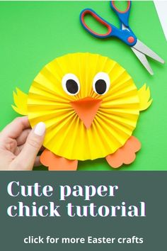 Paper Easter Crafts, Easter Crafts Kids, Diy Paper Crafts, Easter Activities For Kids, Bunny Crafts, Spring Kids Craft, Paper Craft For Kids, Easter Chick, Diy Easter Decorations