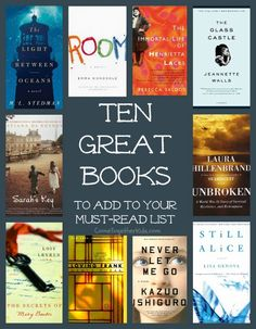 Great Books for a Book Club (or just to read yourself) ~ check these out!... I'm always looking for a new book to read!!