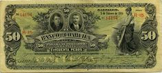Mexico banknotes 50 Pesos banknote of 1914, El Banco de Coahuila. Obverse: Portrait of Mexican politician Don Miguel Ramos Arizpe and Cepeda.  Mexican banknotes, Mexico paper money, Mexican bank notes, Mexico banknotes, Mexican paper money, Mexico bank notes collection of currency notes and bills, Billetes Mexicanos, Mexico Revolutionary paper money, banknotes of the Mexican Revolution, Mexico private banks banknotes.