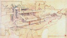 arquitectura + historia: Croquis Maestros: El Gran Artesano Norteamericano, Frank Lloyd Wright