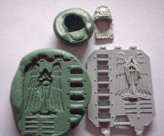 Dioramas y maquetas: Moldes de masilla verde