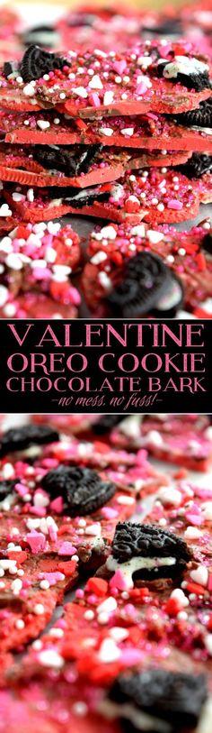 Valentine Oreo Cookie Chocolate Bark - Lord Byron's Kitchen