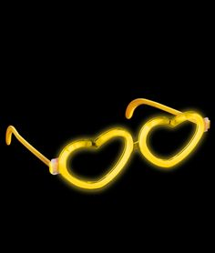 Share CoolGlow with you Friends and Receive 5% on your order.  Glow Heart Eyeglasses - Yellow #http://pinterest.com/coolglow/