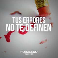 Tus errores no te definen #Frases #FraseDelDía