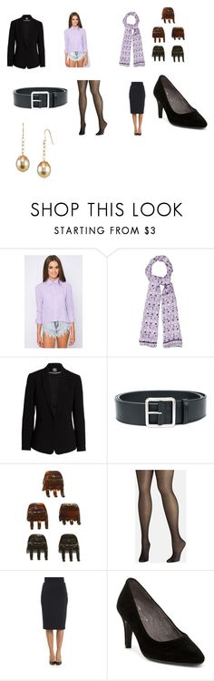 """""""Deborah Norville's Frontier Airlines flight attendant outfit"""" by terrence-michael-clay on Polyvore featuring Marysia Swim, Vince Camuto, Alexander McQueen, scünci, Avenue, Michael Kors and Aerosoles"""