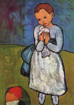 El niño del pichón (1901), de Pablo Picasso