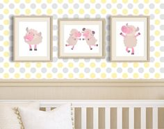 Little pink lamb little lamb baby shower Cute by MyGalleryWall