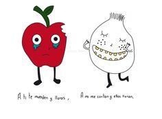 #chicafideo #chica_fideo #manzana #cebolla #llorar #cortar #chiste #mexicana #dibujo #ilustracion