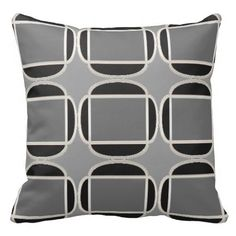 Art Deco Does Morocco in Black and Gray Pillow  http://www.zazzle.com/art_deco_does_morocco_in_black_and_gray_pillow-189896833293793402?rf=238588924226571373