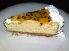 Passion fruit baked cheesecake